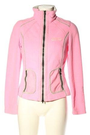 Sportalm Fleece jack roze casual uitstraling