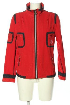Sportalm Fleecejacke rot-schwarz Streifenmuster Casual-Look