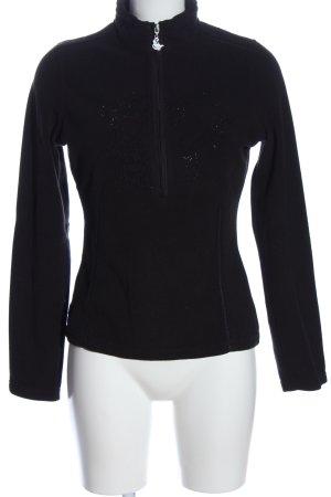 Sportalm Polarowy sweter czarny W stylu casual