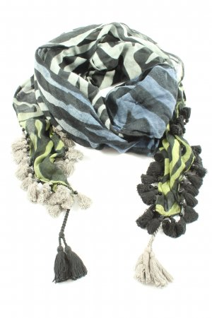 Sportalm Fringed Scarf striped pattern casual look