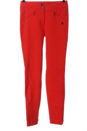 Sportalm Pantalone a vita alta rosso stile casual