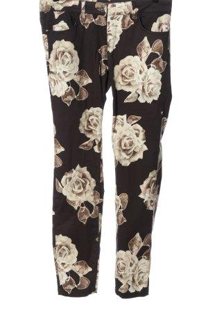 Sportalm Slim Jeans braun-wollweiß Blumenmuster Casual-Look