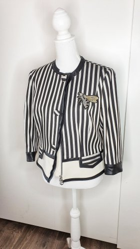 Sportalm Jacke 40 Elevance schwarz beige gestreift Peplum Biene