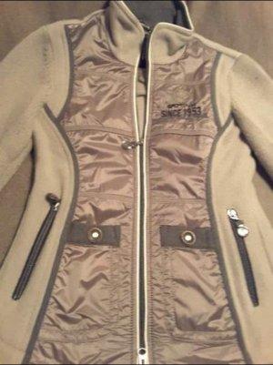 Sportalm Jacke, supertrendfarbe taupe mit grau, Gr. 34 sehr aufwendig verarbeitet