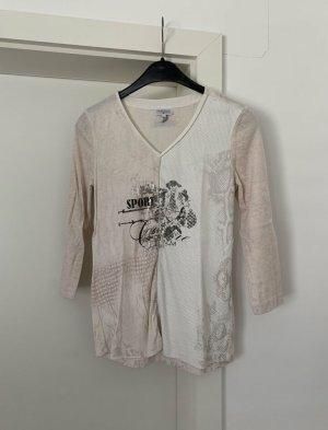 Sportalm V-Neck Sweater white-pink