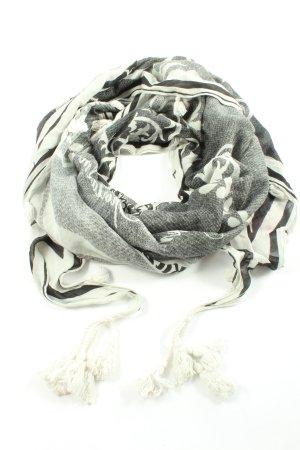 Sportalm Kitzbühel Shemagh noir-blanc motif abstrait style décontracté