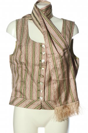 Sportalm Kitzbühl Traditional Vest nude-green flower pattern casual look