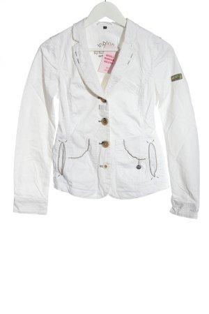 Sportalm Korte blazer wit prints met een thema casual uitstraling