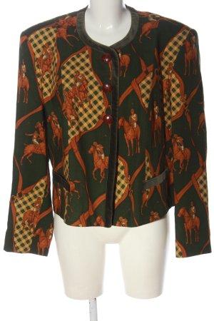 Sportalm Blazer corto cachi-arancione chiaro motivo grafico elegante