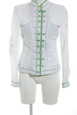 Sportalm Kurz-Blazer weiß-grün Street-Fashion-Look