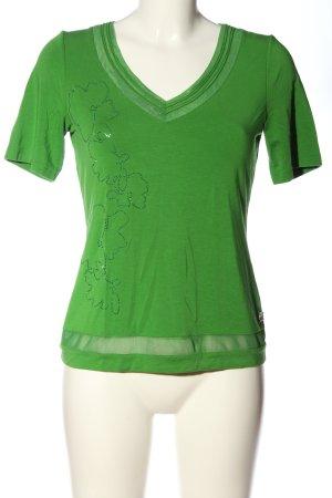 Sportalm Kurzarm-Bluse grün Motivdruck Casual-Look