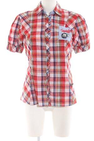 Sportalm Shirt met korte mouwen geruite print zakelijke stijl