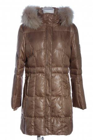 Sportalm Długa kurtka brąz Pikowany wzór W stylu casual