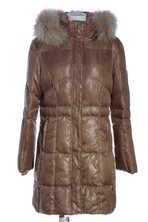 Sportalm Lange Jacke bronzefarben Steppmuster Casual-Look