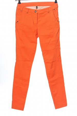Sportalm Pantalone a sigaretta arancione chiaro stile casual