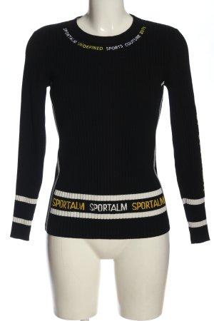 Sportalm Maglione girocollo caratteri stampati stile casual