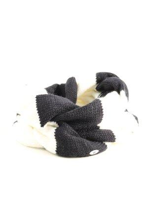 Sportalm Sciarpone nero-crema motivo a righe stile casual