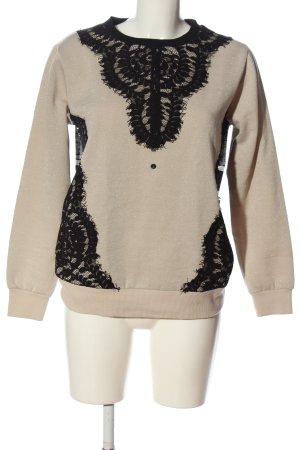 Sportalm Sweatshirt creme-schwarz abstraktes Muster Casual-Look