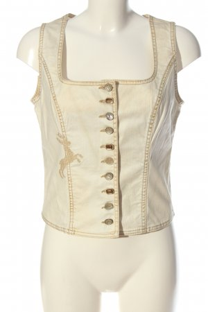 Sportalm Traditional Vest natural white casual look