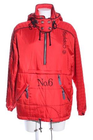Sportalm Winterjacke rot-schwarz Schriftzug gestickt Casual-Look