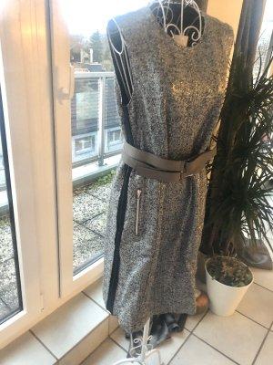 Sportalm Winterkleid grau silber tweed boucle M 38 lang elegant mit Taschen Neu Apres Ski