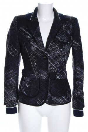 Sportalm Woll-Blazer schwarz-hellgrau abstraktes Muster Business-Look
