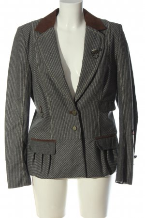 Sportalm Blazer in lana grigio chiaro motivo a righe stile professionale