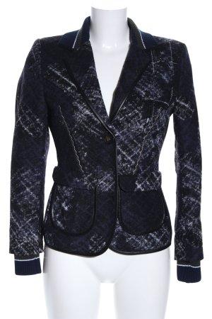 Sportalm Wollen blazer zwart-lichtgrijs abstract patroon zakelijke stijl
