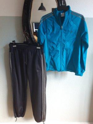 Adidas Sports Jacket dark grey-light blue