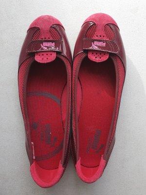 Puma Patent Leather Ballerinas raspberry-red-magenta