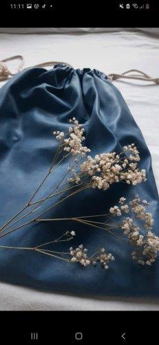 Torebka typu worek stalowy niebieski-chabrowy