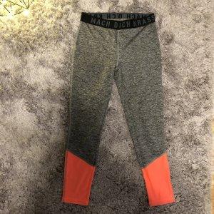 Pantalone da ginnastica arancio neon-grigio