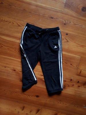 Sporthose knielang adidas schwarz-weiß♡
