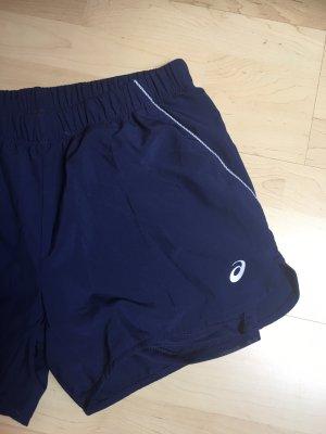 Asics Pantalon de sport bleu foncé-blanc