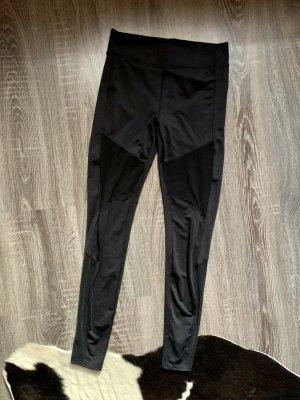 Sporthose leggings thights schwarz Netz Running durchsichtig