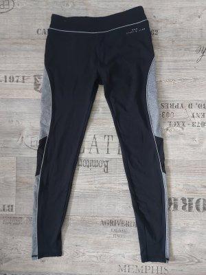 Bershka Pantalon de sport noir-gris clair