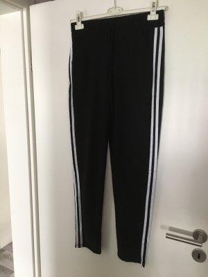 Sporthose Schwarz mit Streifen Gr. L/XL