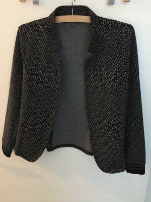 Street One Blazer in jersey nero-bianco