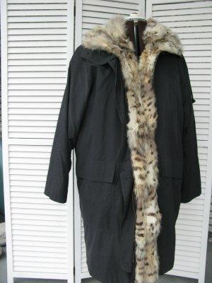 Hooded Coat black fur