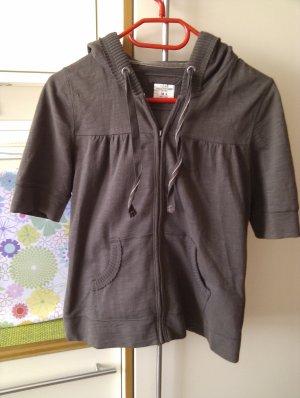 H&M L.O.G.G. Shirt met capuchon grijs-bruin Katoen