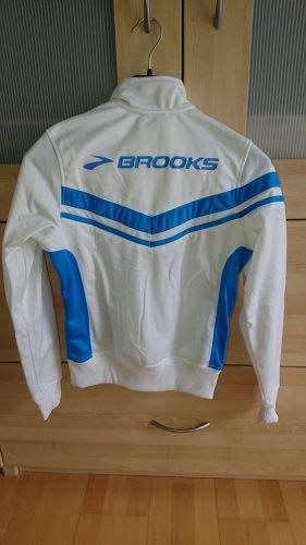 Brooks Kurtka sportowa biały-niebieski neonowy