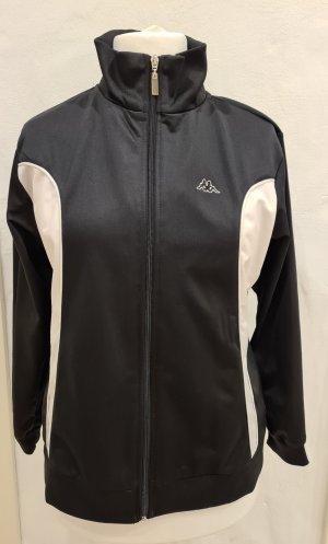 Kappa Sportjack wit-zwart Polyester