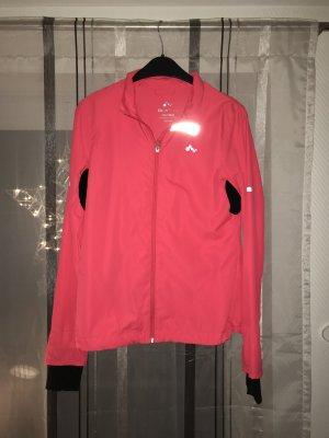 Sportjacke Only pink, schwarz, silber (reflektiert) in Größe M