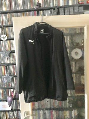 Sportjacke Puma leicht glänzend schwarz Grösse L - 2 Taschen mit Reisverschluss - Ärmel gekürzt - selten getragen