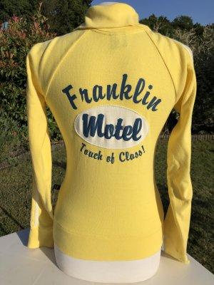Sportjacke, Stickjacke, Franklin & Marshall, Gelb, Größe S