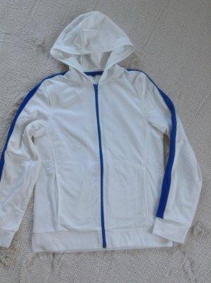Sportjacke / weiß-blau