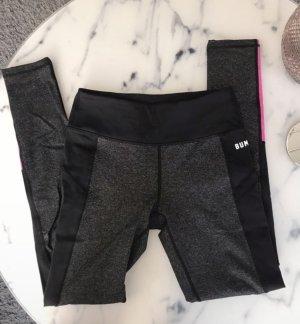 BumBum Pantalon de sport noir-rose