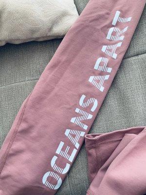 oceans apart Spodnie sportowe w kolorze różowego złota-jasnoszary