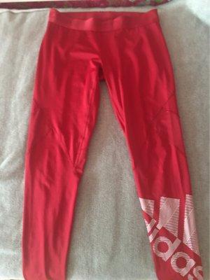 Adidas Originals Sportbroek rood-wit Polyester