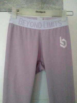 Beyond Limits Trackies dusky pink spandex